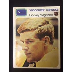 1970 VANCOUVER CANUCKS 3RD NHL PROGRAM W/ BOBBY ORR ON COVER