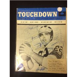 1961 TOUCHDOWN MAGAZINE JOE KAPP ON COVER