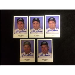 AUTOGRAPHED JOSE CANSECO BASEBALL TRADING CARDS LOT