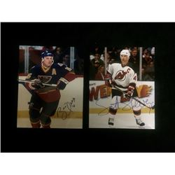"AUTOGRAPHED BRETT HULL & SCOTT STEVENS 8"" X 10"" PHOTOS"