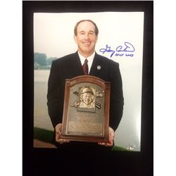 "2003 AUTOGRAPHED GARY CARTER HALL OF FAME 8"" X 10"" PHOTO"
