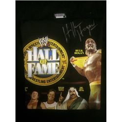 WWE HALL OF FAME NEW SHIRT SIGNED BY HULK HOGAN