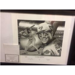 TORONTO BLUE JAYS' ROBERTO ALOMAR LIMITED EDITION ARTWORK