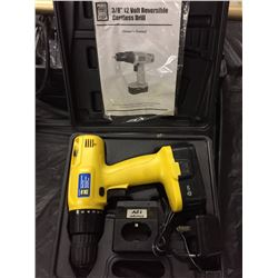 """POWER FIST 3/8"""" VOLT REVERSIBLE CORDLESS DRILL W/ CHARGER"""