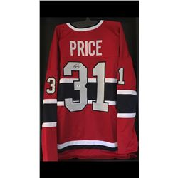 AUTOGRAPHED CAREY PRICE HOCKEY JERSEY W/ COA