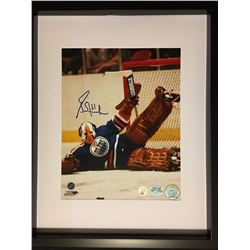 "AUTOGRAPHED GRANT FUHR FRAMED 12' X 15"" PHOTO W/ COA"