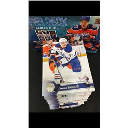 2016-17 UPPER DECK SERIES ONE HOCKEY CARD SET FEATURING CONNOR MCDAVID