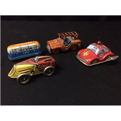 VINTAGE TIN TOY CARS LOT