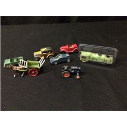 VINTAGE BENBROS TOY CAR LOT
