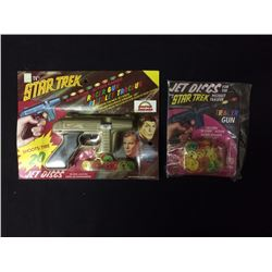 STAR TREK RACER TOY GUN W/ JET DISCS IN BOX