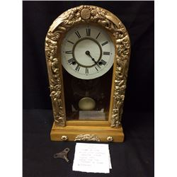 CIRCA 1900 JAPANESE EIGHT DAY SPRING CLOCK