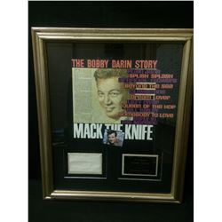 BOBBY DARIN FRAMED & SIGNED COLLAGE