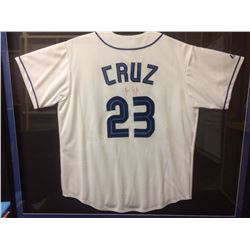 AUTHENTIC AUTOGRAPHED JOSE CRUZ TORONTO BLUE JAYS BASEBALL JERSEY