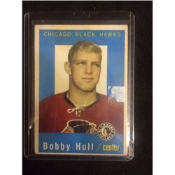 1959-60 BOBBY HULL #47 TOPPS HOCKEY TRADING CARD