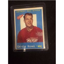 1959 TOPPS GORDIE HOWE HOCKEY CARD
