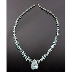 Early Navajo No 8 Spider Matrix Turquoise Necklace