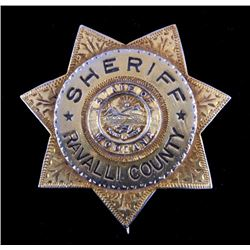 Ravalli County Montana Sheriff Badge