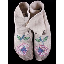 Crow Beaded Floral Moccasins circa 1900