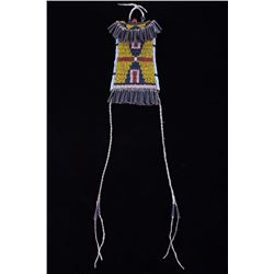 Kiowa Strike-A-Lite Beaded Bag 19th Century