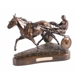 Claudia Steinley Horse Racing Bronze Sculpture