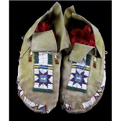 Sioux Beaded Moccasins circa 1890