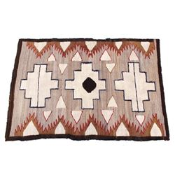 Navajo Old Crystal Trading Post Rug Early 1900