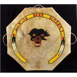 Flathead Native American Indian Large Pow-Wow Drum