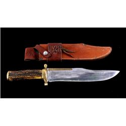 RARE Early R.H. Ruana Bowie Knife Bonner Montana