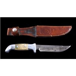 "Ruana ""M"" Stamp Sticker Knife & Scabbard 1962-1983"