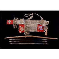 Kiowa Bow & Arrow with Quiver c. 19th Century