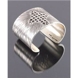 Cody Willie Heavy Sterling Silver Cross Cuff