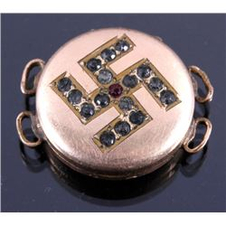 WWII Era Nazi Gold Filled Pill Box Locket