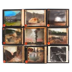 Yellowstone National Park Glass Slide Collection