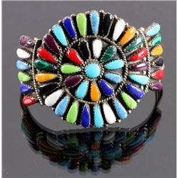 Zuni Sterling Silver Petit Point Bracelet