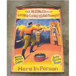 Antique Style Knife Throwing Sideshow Banner