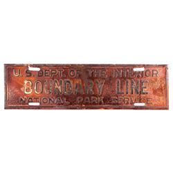 Original Yellowstone National Park Boundary Sign