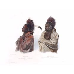 Karl Bodmer circa 1841 Indian Aquatint Engraving