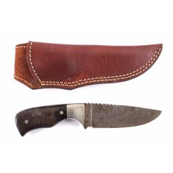Chris Peterson Custom Damascus Knife & Scabbard