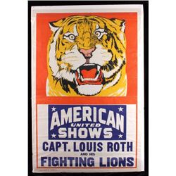 Captain Louis Roth Fighting Lions Poster