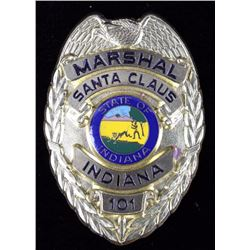 Santa Clause, Indiana Marshal Police Badge