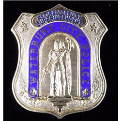 Waterbury City Police Superintendent Police Badge