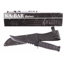 Ka-Bar Fighting Serrated Knife With Box & Sheath
