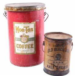 Old Black Joe Grease & Mon Tan Coffee Tins