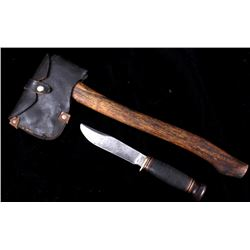 Marbles Hunting Knife & No. 9 Hatchet With Sheath