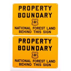 U.S. Forest Service Property Boundary Signs
