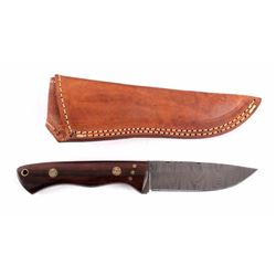 CFK Damascus Rosewood Knife & Scabbard