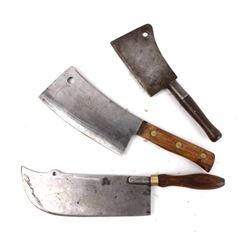 Collection Of Early Meat Cleavers