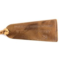 Bureau of Indian Affairs Wyoming Territory Tag