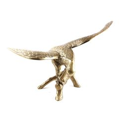 Custom Large Brass Eagle Centerpiece