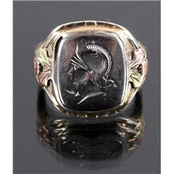 10K Black Hill Gold & Sterling Silver Ring